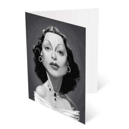 Hedy Lamarr Celebrity Caricature Occasions Cards