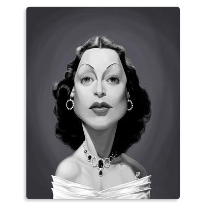 Hedy Lamarr Celebrity Caricature Metal Print