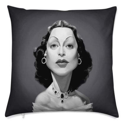 Hedy Lamarr Celebrity Caricature Cushion