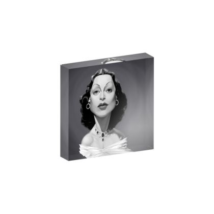 Hedy Lamarr Celebrity Caricature Acrylic Photo Blocks