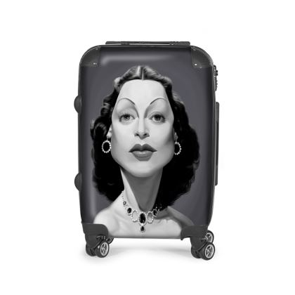 Hedy Lamarr Celebrity Caricature Suitcase