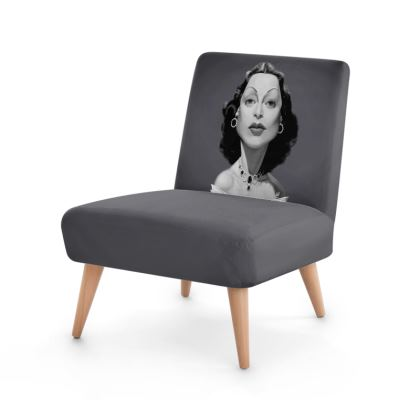 Hedy Lamarr Celebrity Caricature Occasional Chair