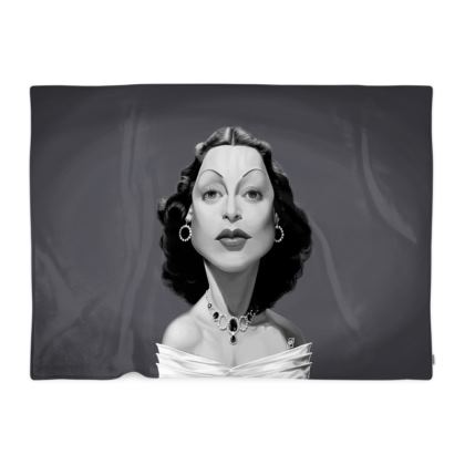 Hedy Lamarr Celebrity Caricature Blanket