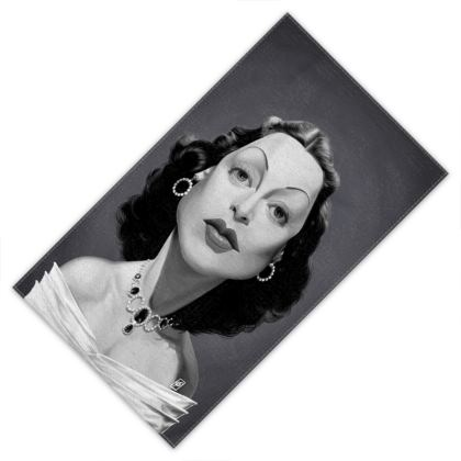 Hedy Lamarr Celebrity Caricature Towels