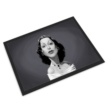 Hedy Lamarr Celebrity Caricature Door Mat