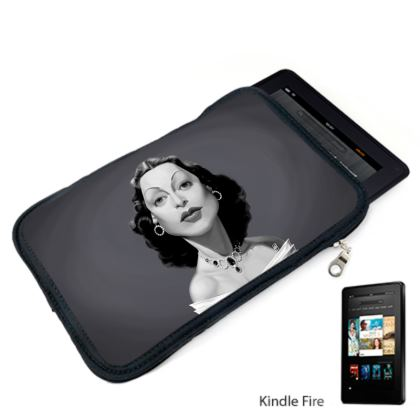 Hedy Lamarr Celebrity Caricature Kindle Case
