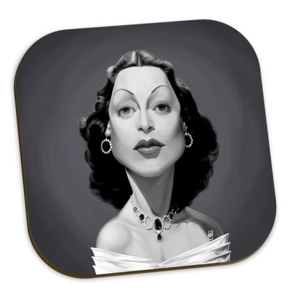 Hedy Lamarr Celebrity Caricature Coasters