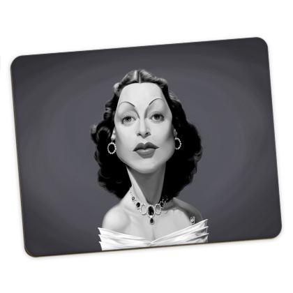 Hedy Lamarr Celebrity Caricature Placemats