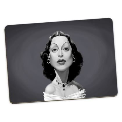 Hedy Lamarr Celebrity Caricature Large Placemats