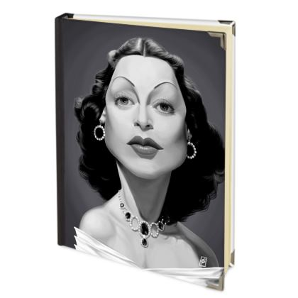 Hedy Lamarr Celebrity Caricature 2018 Deluxe Diary