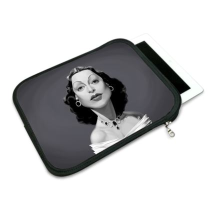 Hedy Lamarr Celebrity Caricature iPad Slip Case