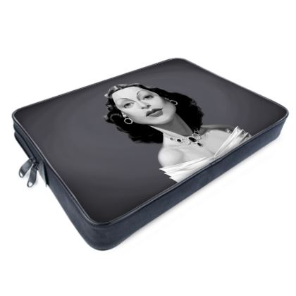 Hedy Lamarr Celebrity Caricature Laptop Bags