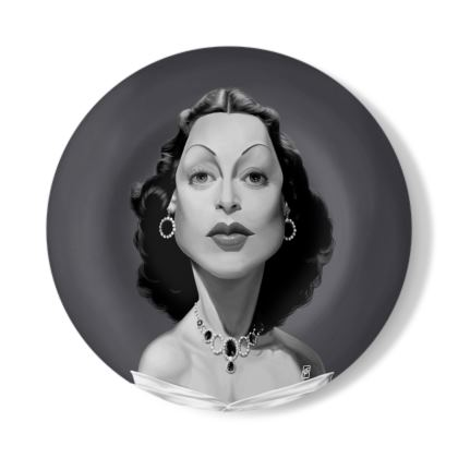 Hedy Lamarr Celebrity Caricature Decorative Plate