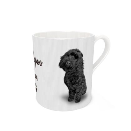 Black cockapoo mUM  bone china mug