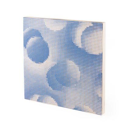 Wood Prints - Endleaves of Art. Taste. Beauty (1932) Blue Remix