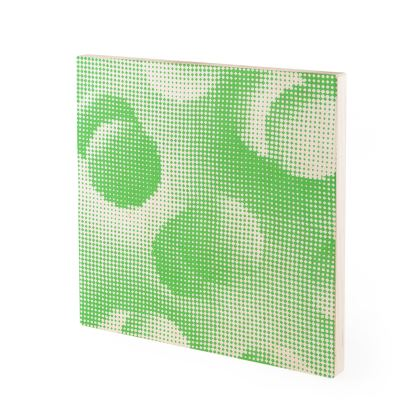 Wood Prints - Endleaves of Art. Taste. Beauty (1932) Green Remix
