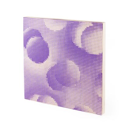Wood Prints - Endleaves of Art. Taste. Beauty (1932) Purple Remix