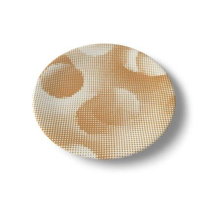 China Plates - Endleaves of Art. Taste. Beauty (1932) Orange Remix