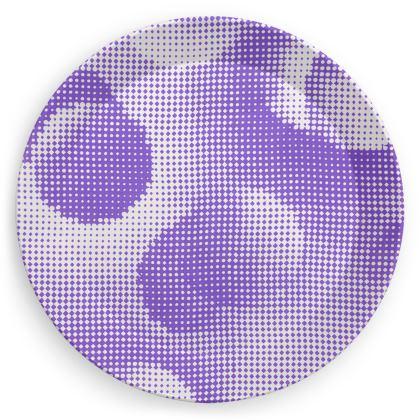 Party Plates - Endleaves of Art. Taste. Beauty (1932) Purple Remix