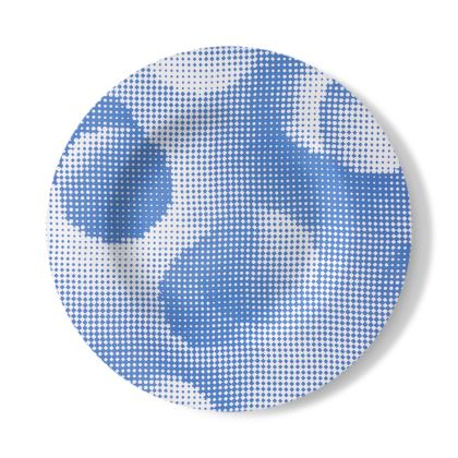 Decorative Plate - Endleaves of Art. Taste. Beauty (1932) Blue Remix