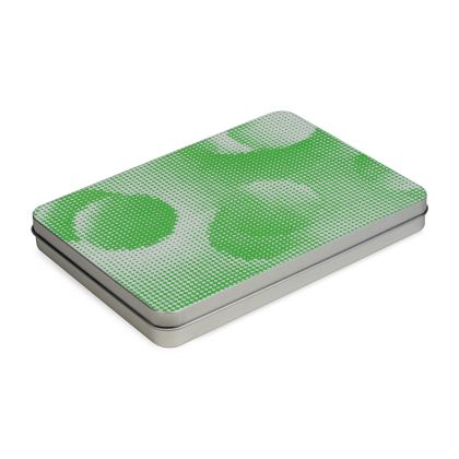 Tin Box Hinge Lid - Endleaves of Art. Taste. Beauty (1932) Green Remix