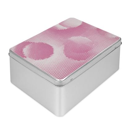 Biscuit Tin - Endleaves of Art. Taste. Beauty (1932) Pink Remix