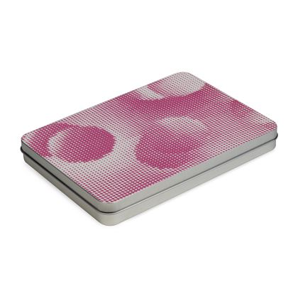 Tin Box Hinge Lid - Endleaves of Art. Taste. Beauty (1932) Pink Remix