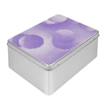Biscuit Tin - Endleaves of Art. Taste. Beauty (1932) Purple Remix