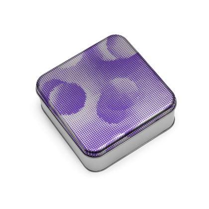Wrap Lid Tins - Endleaves of Art. Taste. Beauty (1932) Purple Remix