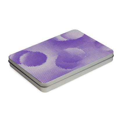 Tin Box Hinge Lid - Endleaves of Art. Taste. Beauty (1932) Purple Remix