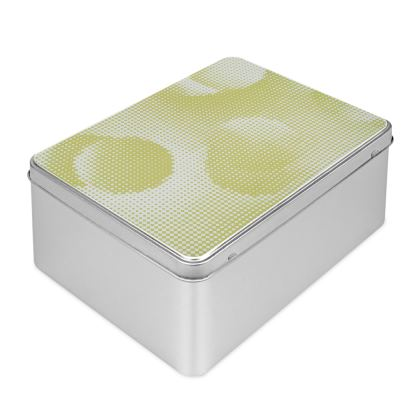 Biscuit Tin - Endleaves of Art. Taste. Beauty (1932) Yellow Remix