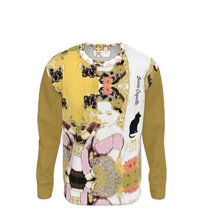 Sweat-shirt la Tonquinoise- taille •S 34/36/taille-62/70cm-poitrine-80/88cm-Hanches-87/95cm-
