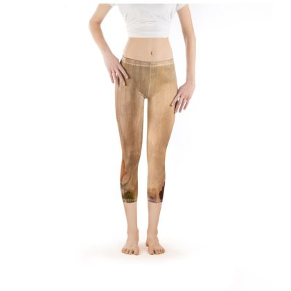 Golden Roses Incandescence Leggings