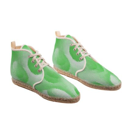 Hi Top Espadrilles - Endleaves of Art. Taste. Beauty (1932) Green Remix