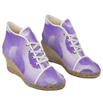 Ladies Wedge Espadrilles - Endleaves of Art. Taste. Beauty (1932) Purple Remix