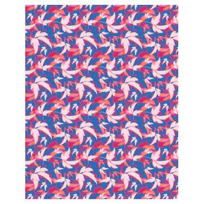 Hoodie Pink, Blue [women] zipped   Leaves in Flight  Oilcan