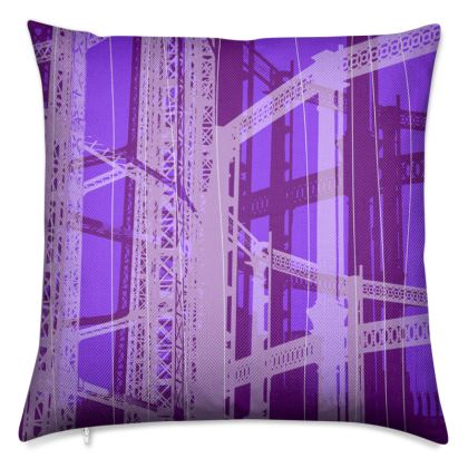Violet Gasometer Luxury Cushion