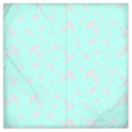 Duvet Cover- Emmeline Anne Silver/Turquoise Leaves