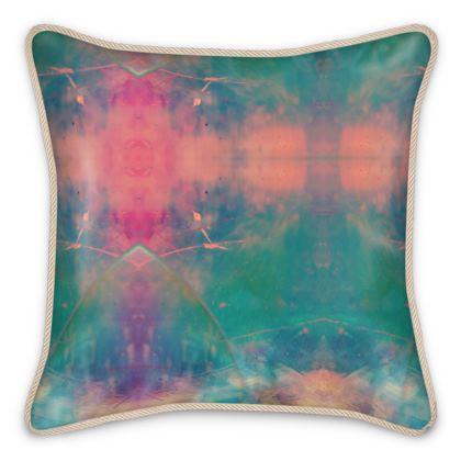 Silk Cushion - Emmeline Anne Colourful Clouds