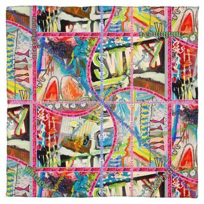 115 x 115 cm feinstes Satin Seiden Tuch
