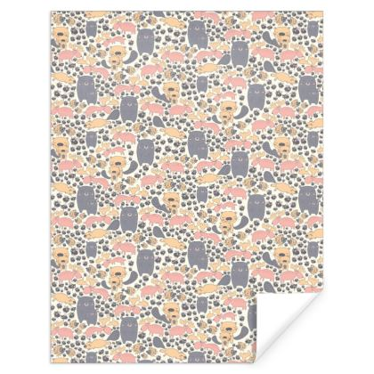 Northern Critters Scandinavian patterned Gift Wrap