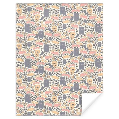 Scandinavian Animal Prints Gift Wrap