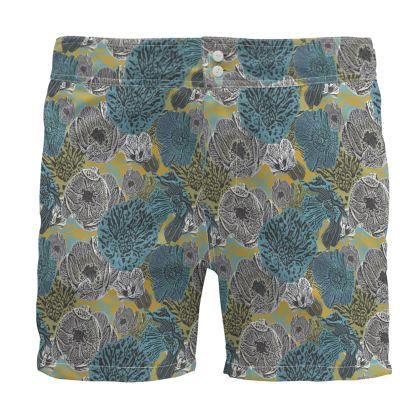 Board Shorts Teal, Grey   Anemone  Goldfinch