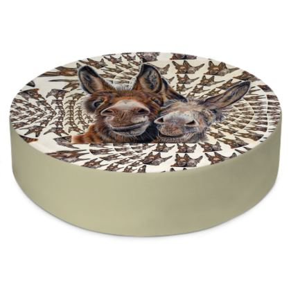 HEE HAW Donkey Round Floor Cushion