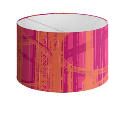 Pink & Orange Gasometers Drum Lamp Shade