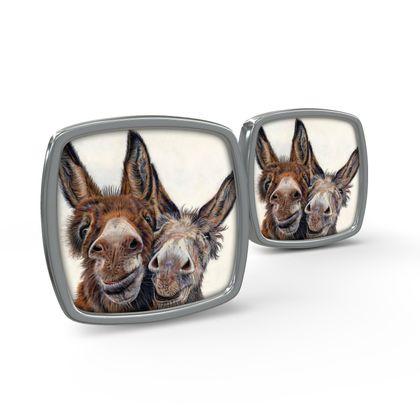 HEE HAW Donkey Cufflinks