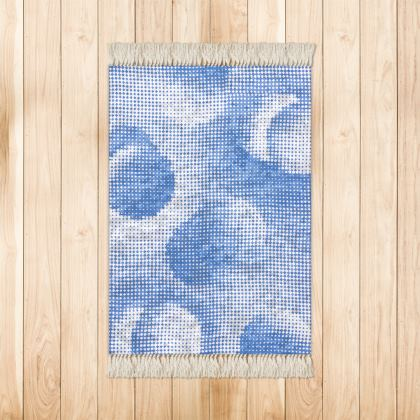 Small Rug (90x63cm) - Endleaves of Art. Taste. Beauty (1932) Blue Remix