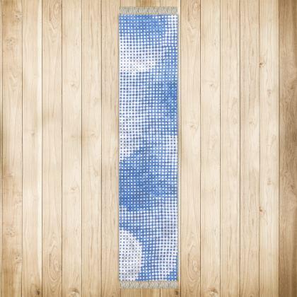 Long Runner (290x63cm) - Endleaves of Art. Taste. Beauty (1932) Blue Remix