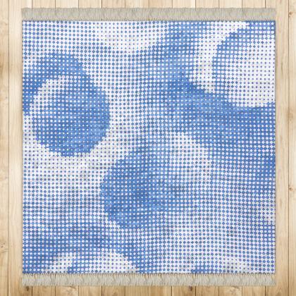 Medium Rug (128x128cm) - Endleaves of Art. Taste. Beauty (1932) Blue Remix