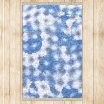 Large Rug (128x200cm) - Endleaves of Art. Taste. Beauty (1932) Blue Remix